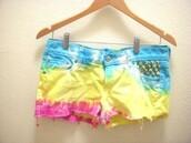 shorts,tie dye