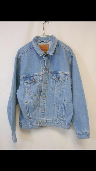 jacket light blue levi's vintage