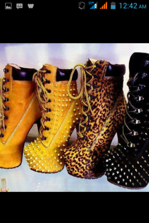 shoes leopard print print ankle boots