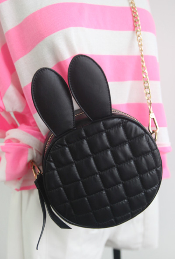 bag bunny ears chain bag