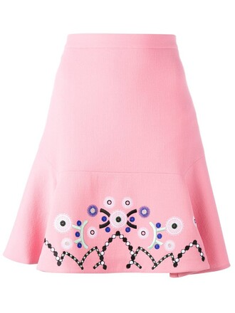 skirt embroidered purple pink