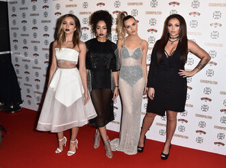 dress see through see through dress mesh little mix perrie edwards jade thirlwall leigh-anne pinnock jesy nelson skirt top midi dress embellished