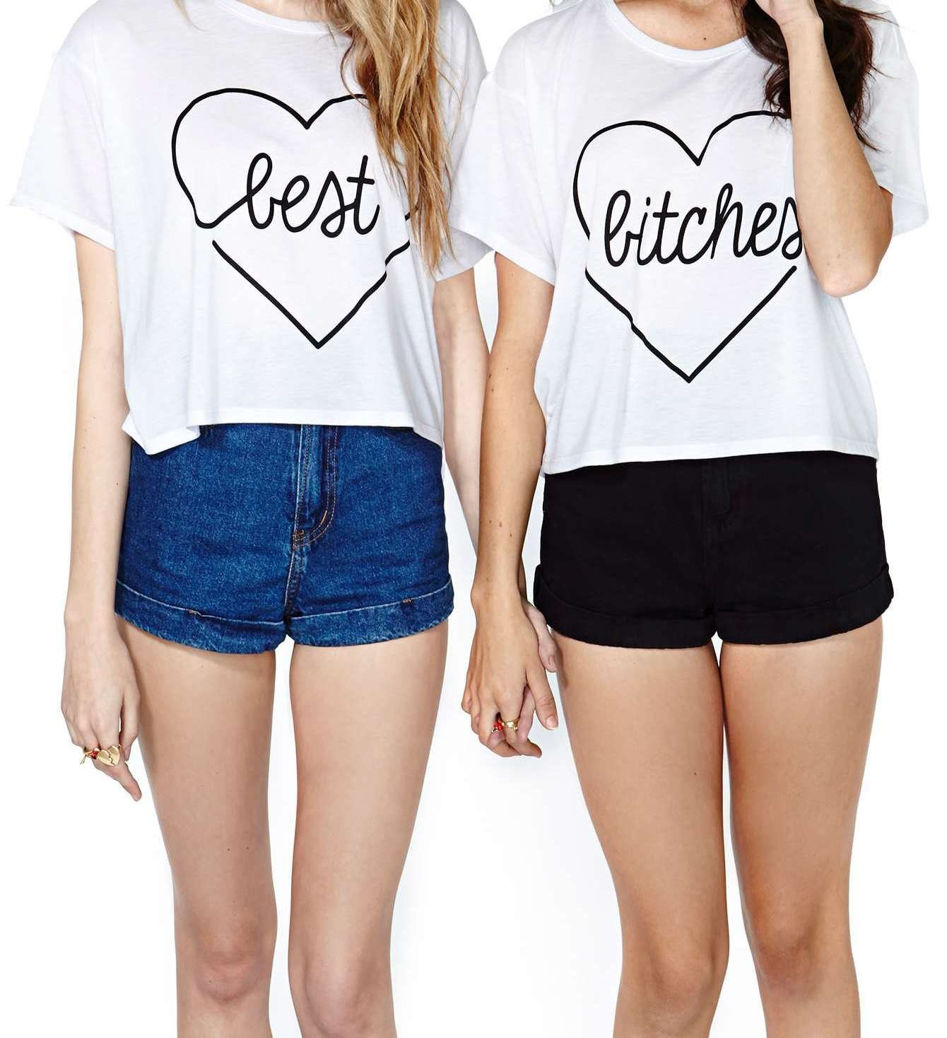 Best bitches crop top set