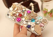 phone cover,cute,designer,iphone cover,style,fashion,rhinestones