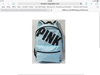 bag mint backpack victoria's secret pink