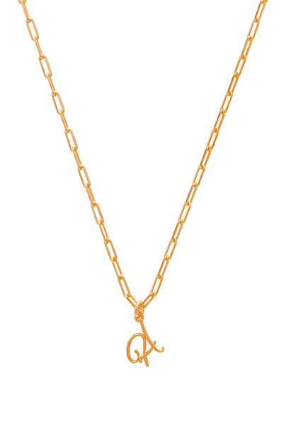 joolz by Martha Calvo A Initial Necklace in gold / metallic