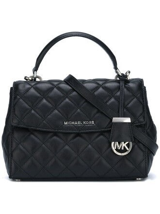 women quilted bag tote bag black