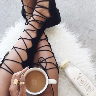 gold ring knuckle ring rug strappy flats flats strappy shoes girly wishlist