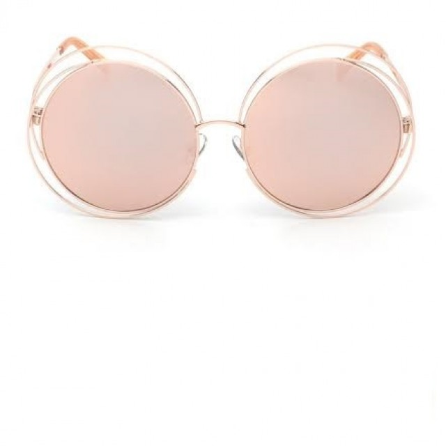 Lydia Round Lens Gold & Pink