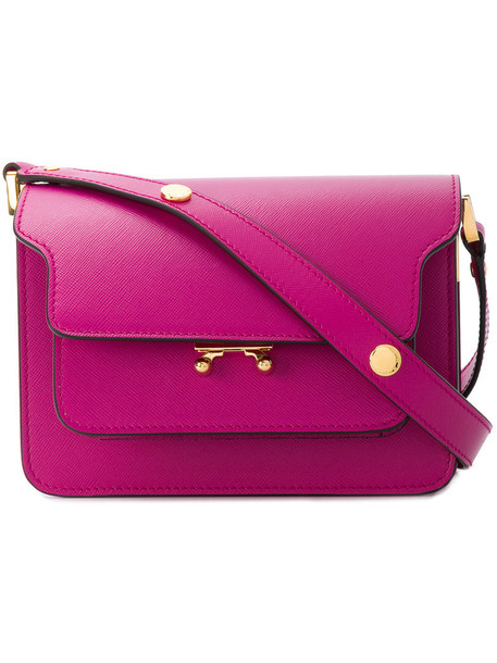women bag shoulder bag leather purple pink