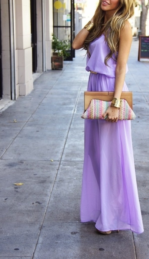 dress maxi dress purse haute & rebellious lavender dress lilac loose lavender prom dress lavender lavender maxi dress prom dress gloves bag purple dress lilac dress long dress flowy dress floor length dress summer dress bracelets maxi purple long beautiful fashion outfit pretty lavender maxi dress silk belt ruffle spring dress pastel dress lilac chiffon prom dresses long lilac dress