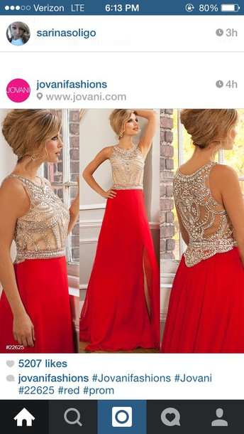 dress red dress jovani
