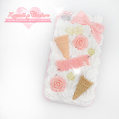 phone cover,sweet,whipped cream,case for iphone 4/4s/5,kawaii
