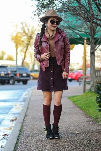 gracefullee made blogger skirt jacket top socks hat shoes jewels sunglasses make-up button up skirt