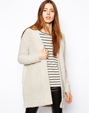 ASOS | ASOS Longline Jacket in Fluffy Texture at ASOS
