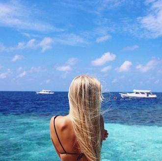 make-up guys cara delevingne beach blonde hair fashion