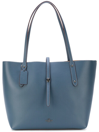 women leather blue bag
