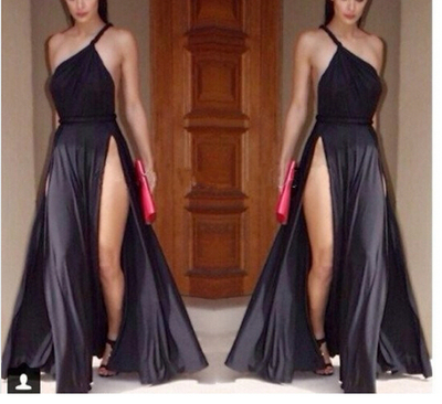 Shoulder sexy slit maxi dress. party dress · fe clothing · online store powered by storenvy