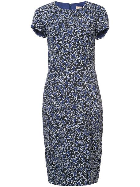 dress pencil dress women spandex floral print blue