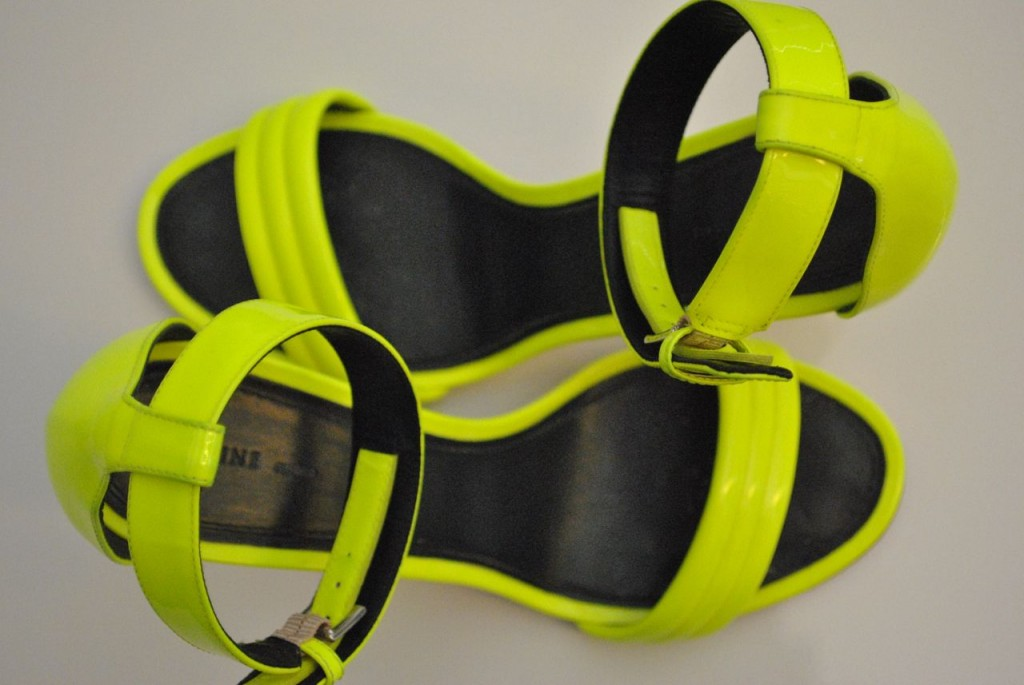 Currently Obsessed: CÉLINE Neon Yellow Shoes | The Happening