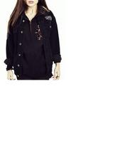 jacket,denim,black,denim jacket