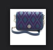 bag,mini,tory burch,patchwork,crossbody bag,purple