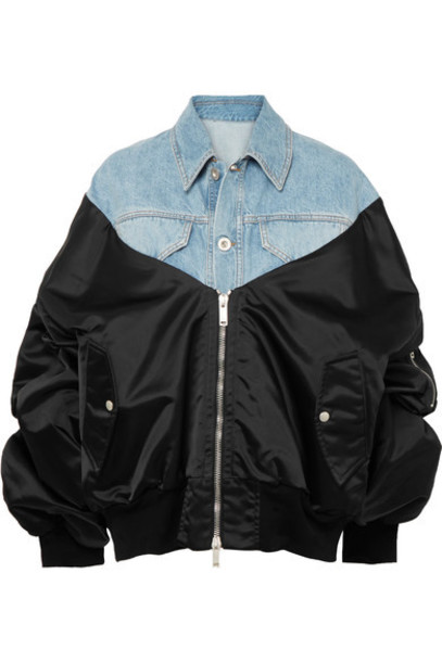 Unravel Project jacket bomber jacket denim shell satin