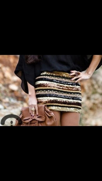 skirt blue skirt gold sequins sequins sequin skirt brown sequin