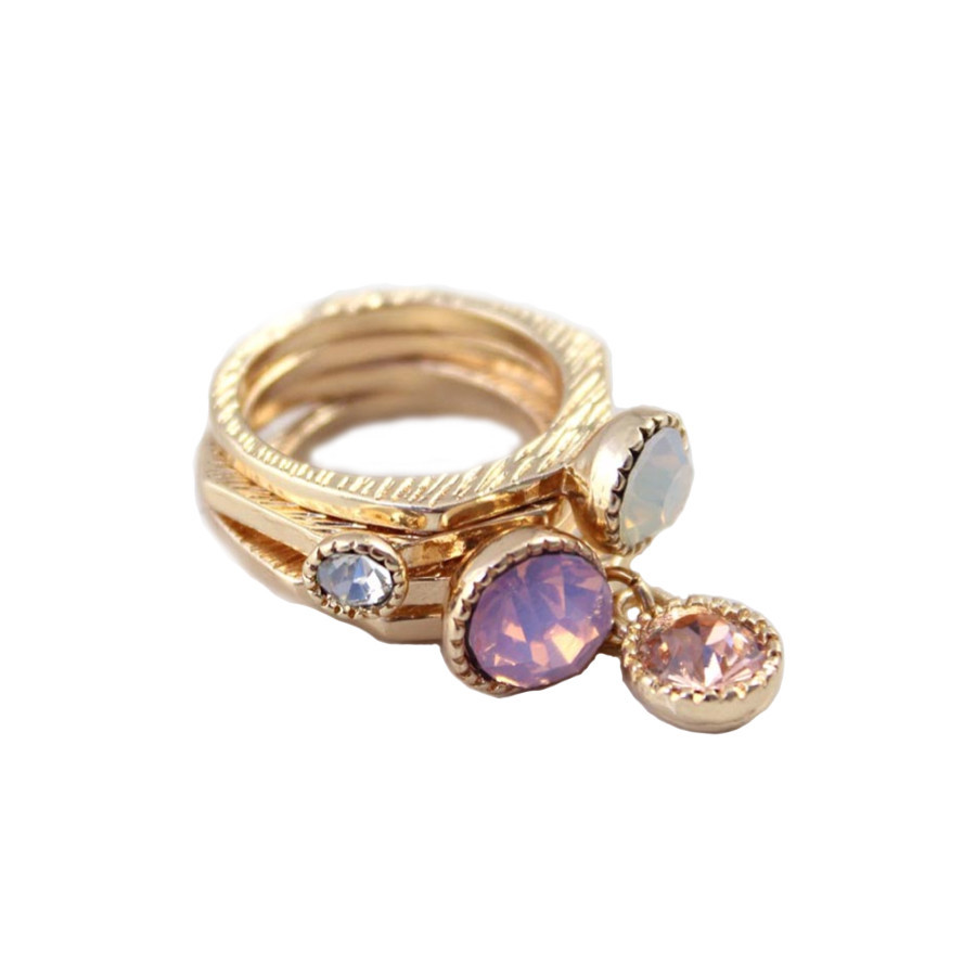 GEMSTONES RINGS SET / back order – HolyPink
