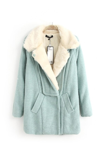 Berber Fleece Lining Loose Wool Coat [FEBK0393]- US$69.99 - PersunMall.com