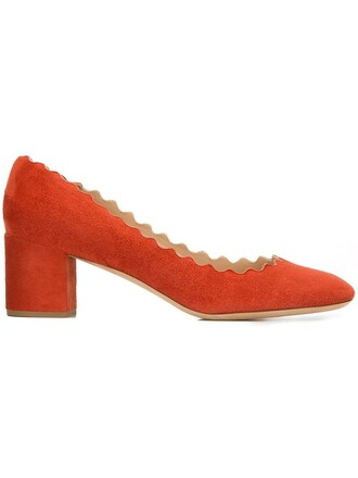 heel women pumps leather suede red shoes