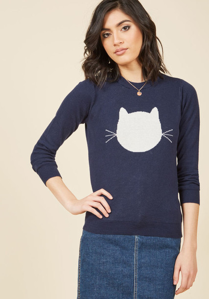 mds1019 sweater pullover heart shell navy blue