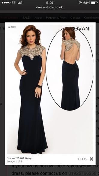 dress blue dress jovani prom dress