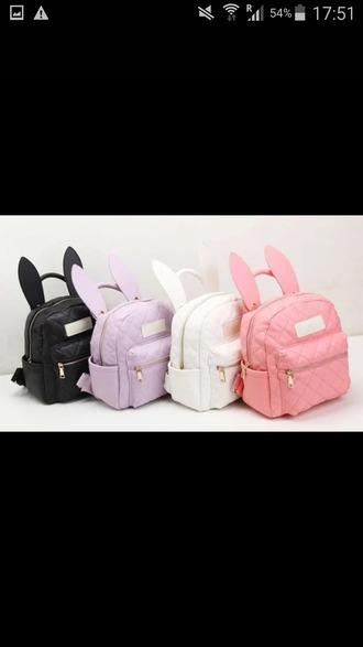 bag colorful bunny