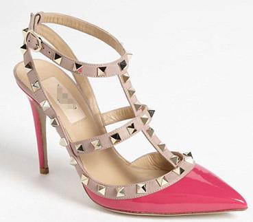 2014 New Hot Womenu0027s Sexy Valentine Shoes Pointed Toe Metal Rivet High  Heels Women High Heel Sandals ...
