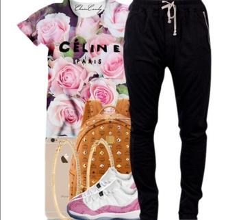 blouse celine pink floral tank top shoes