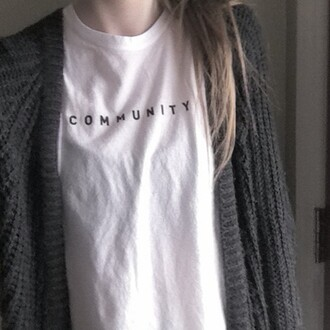 t-shirt community grunge white hipster white t-shirt hipster top