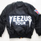 Yeezus ma1 flight bomber jacket | black / green