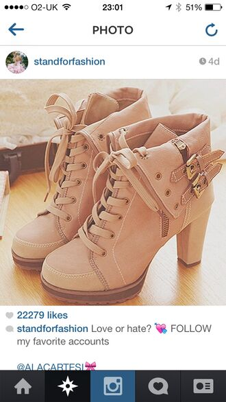shoes pink ankle boots high heels cute high heels instagram zip-up lace up buckles leather bag