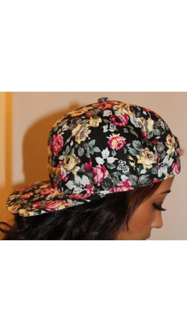 hat floral snapback cool
