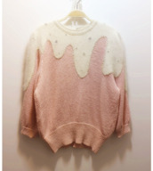 sweater,icing,cupcake,jumper,pullover,pastel pink,cute,pink,pastel,baby pink,kawaii,peach