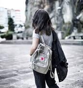 bag,tumblr,backpack,t-shirt,grey t-shirt,jacket,black jacket,jeans,black jeans,back to school