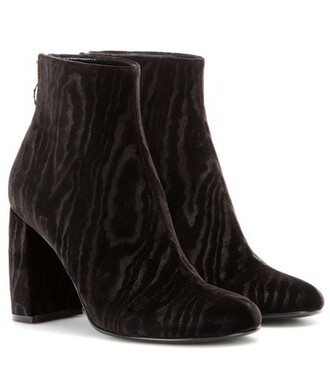 boots ankle boots velvet black shoes