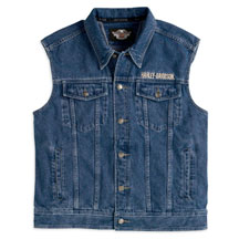 Men's Bar & Shield Logo Denim Vest | MotorClothes® Merchandise | Harley-Davidson USA