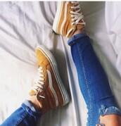 shoes,mustard color vans