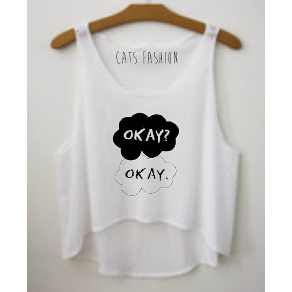 Okay Crop Top Or Muscle tee - Polyvore