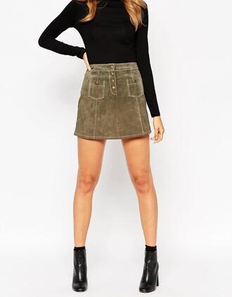 skirt mini skirt suede skirt asos clothes