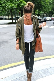 jacket,green,shoes,army green jacket,bag,parka,khaki,army green,oversized jacket,clothes,streetstyle,coat,trendy,pinterest,victoria's secret,jeans,cute outfits,t-shirt,jewels,eleanor calder,camouflage,purse,leopard print shoes,ineed,cute,chic,its so cute,jewelry,fashion,women,spring outfits,casual,olive green,dark olive green,look like leather,shiny,on pinterest and on tumblr ❤️,black leather gold charm pair set goldamdblack necklace tumblr,black,leather,necklace,olivegreen,set,pair,timberland,boots,white,top,fall outfits,Khaki coat,green coat,cardigan,pants,green army,vintage,fall jacket,parker,blouse,kimono,green.,fall sweater,girl,huntergreen,brown bag,green jacket,green military coat,hunter green jacket,comfy,military style,hipster,tumblr,gold,olive green anorak,anorak jacket,stylish anorak,messy bun,baggy shirt,brown combat boots,green military jacket