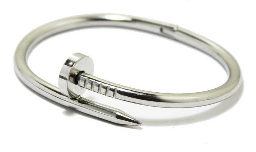 Inspired Cartier Silver Nail Bracelet