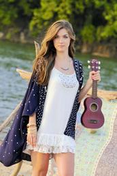 top,kimono,aztec,tribal pattern,long length,navy,gypsy summer
